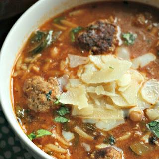 Meatball & Orzo Soup.