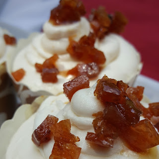 Maple Buttercream with Candied Back Bacon Cupcake