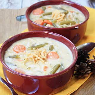 Creamy Easy Turkey Noodle Soup.