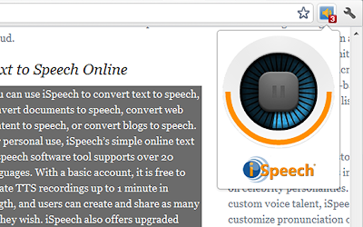 select and speak chrome