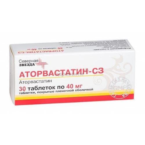 Аторвастатин-СЗ таблетки п.п.о. 40мг 30 шт.