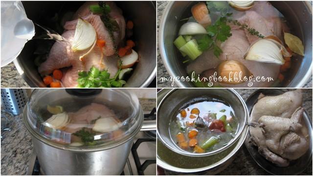 Как се приготвя домашен пилешки бульон