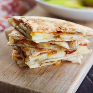 Honeycrisp Apple Quesadillas with Bacon and Cheddar Recipe
