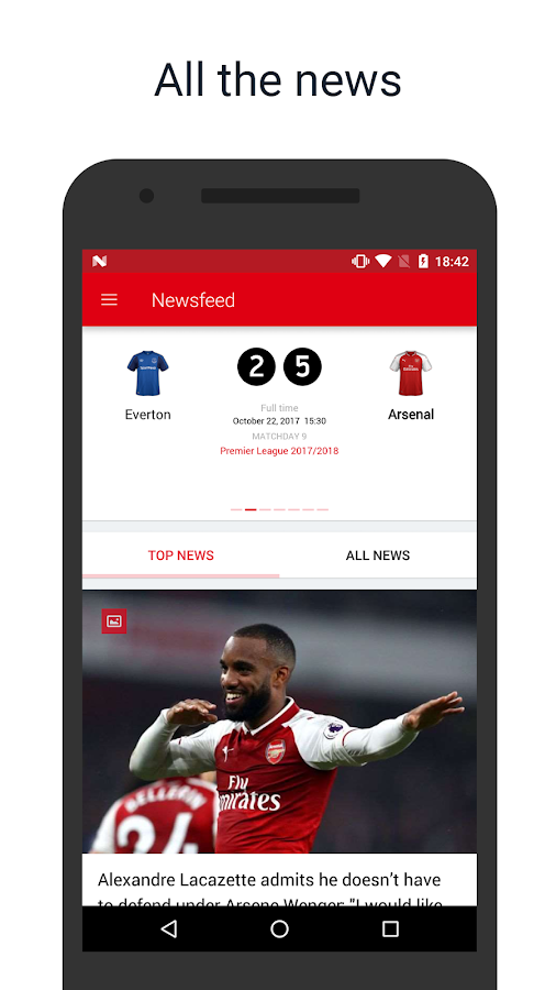 Arsenal Live — Scores & News for Arsenal FC Fans- screenshot