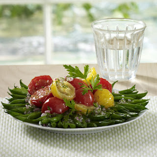 Sautéed Green Beans with Cherry Tomatoes and Shallots.