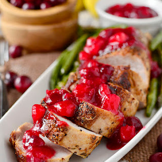 Roasted Pork Tenderloin with Cranberry-Pear Sauce