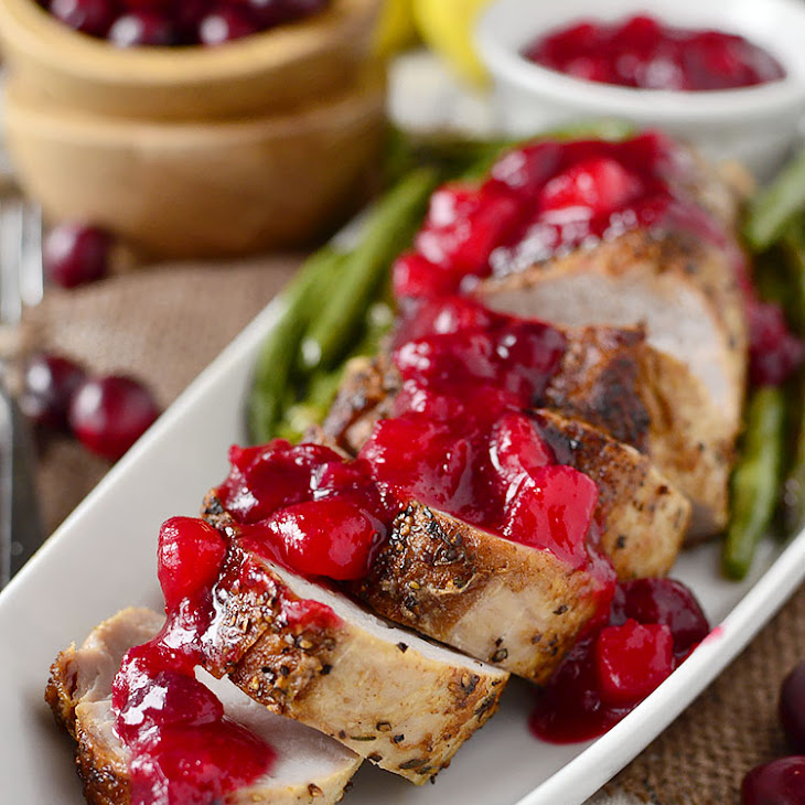 Roasted Pork Tenderloin with Cranberry-Pear Sauce Recipe | Yummly