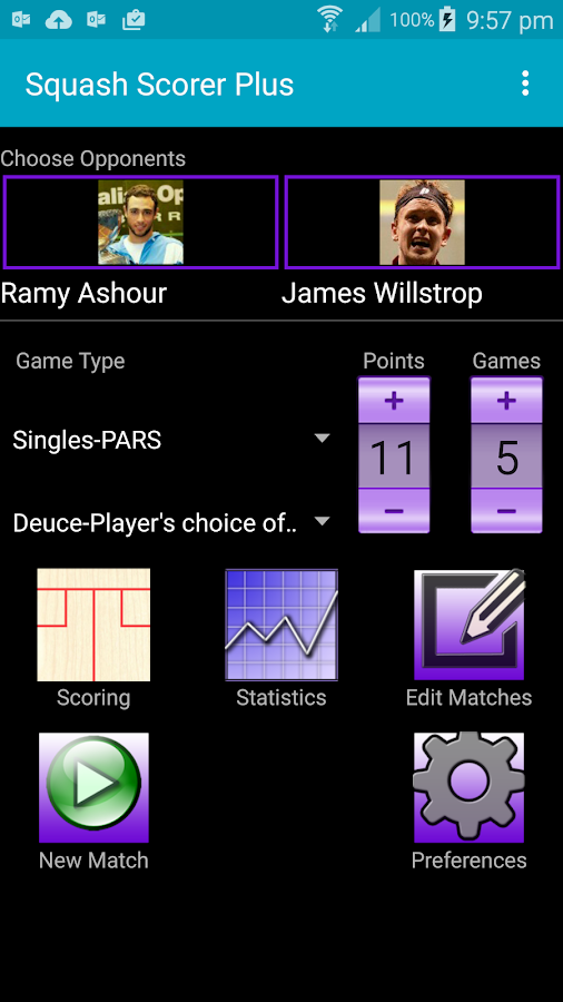 Squash Scorer Plus- screenshot