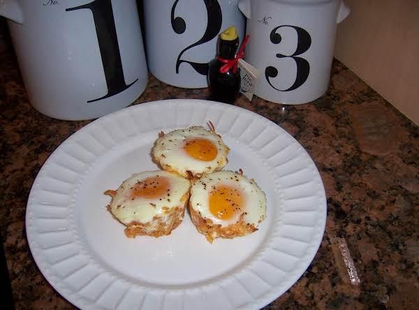 Yummy Hash Brown, Cheese & Taco Seasoning Nests To Bake Eggs!!!