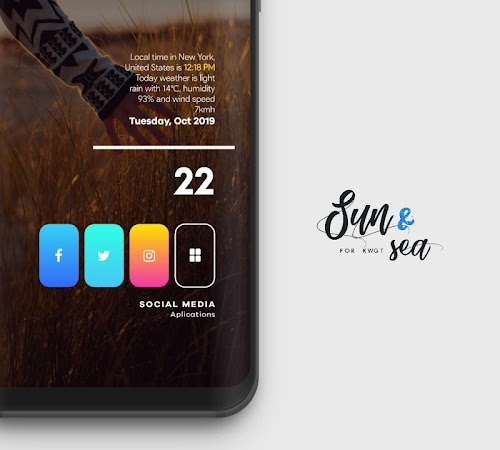 Sun & Sea for KWGT v5.1 [Paid] 1