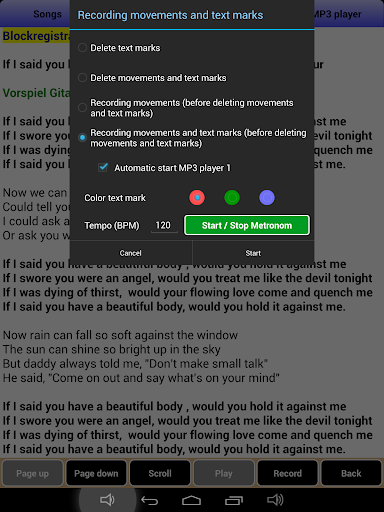 Songbook, MusicBook, MP3 Player, MIDI Karaoke 1.93 screenshots 15