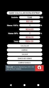 Calculadora de Horas Extras - náhled