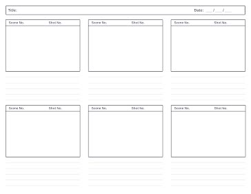 Lined Story Board - Storyboard template