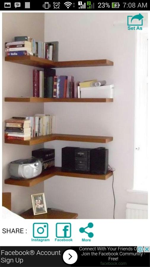 Wall shelf decorating ideas android apps on google play for Picture on wall app