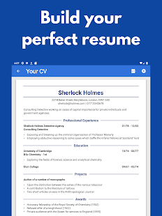 CV Engineer: Resume Builder App, Free PDF CV Maker Capture d'écran