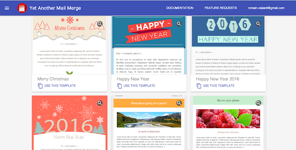 New Email Templates Available In Yet Another Mail Merge Google - Email template google