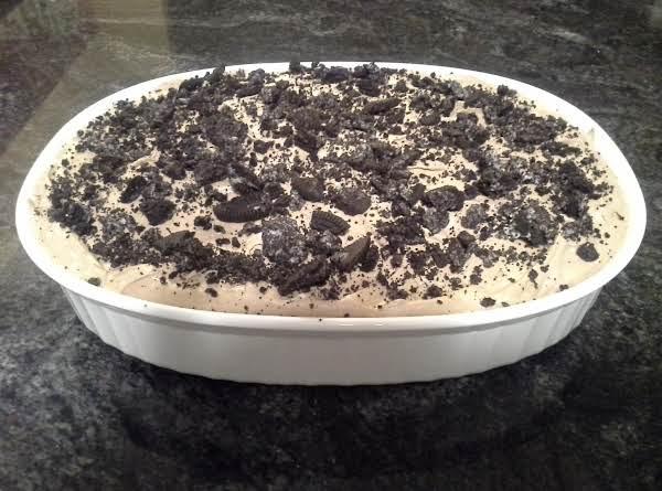 Chocolate Peanut Butter Oreo No Bake Dessert
