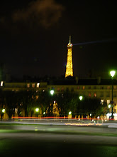 Photo: The Eiffel Tower in its more normal (the last 50 minutes of every evening hour) state.