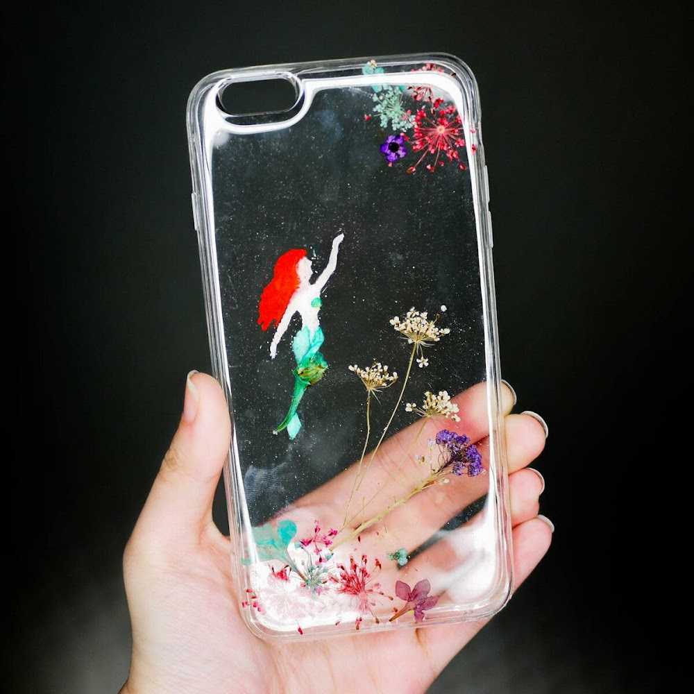[訂製/custom-made] Mermaid Pressed Flower Phone Case