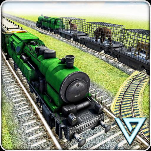 Train Driving Sim 2018- OffRoad Animal Transport