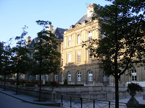 Photo: Sunday morning starts here at the Luxembourg Palace, built in 1615-1631 for Marie de Médicis (mother of King Louis XIII), and now the home of the French Senate.
