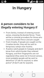 Asylum Info Hungary- screenshot thumbnail