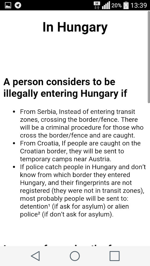 Asylum Info Hungary- screenshot
