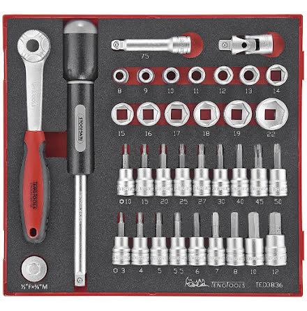 Hylsnyckelsats Teng Tools TED3836