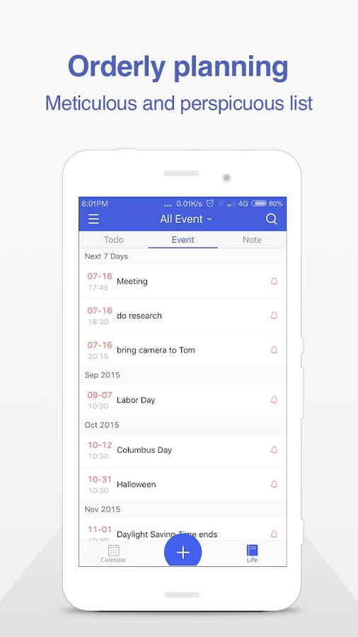 WeCal - Smart Calendar+Weather- screenshot