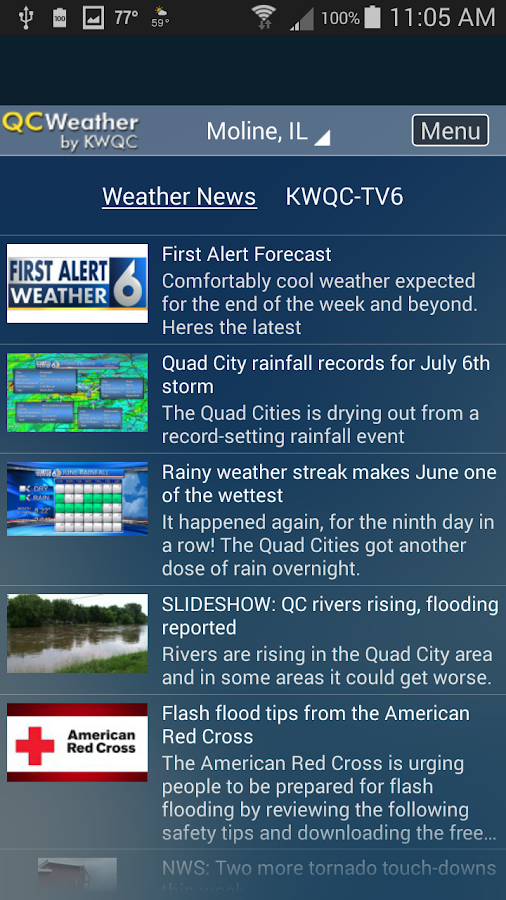 QCWeather by KWQC- screenshot