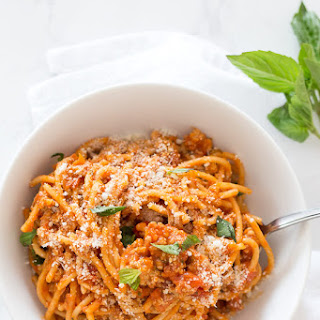 Instant Pot One-Pot Spaghetti with Meat Sauce.