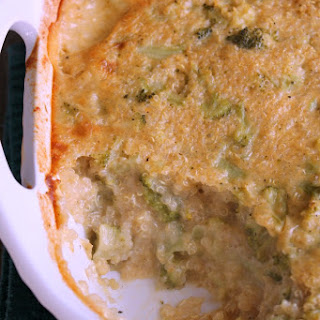 Quinoa and Broccoli Cheddar Casserole Bake