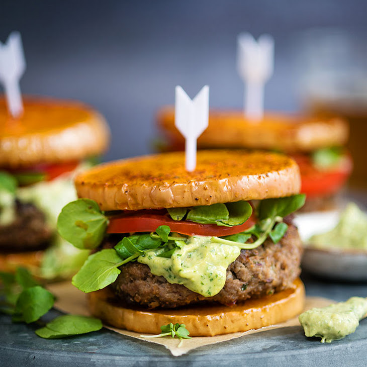 Greek Lamb Burgers With Tahini Dressing On Squash 'buns'
