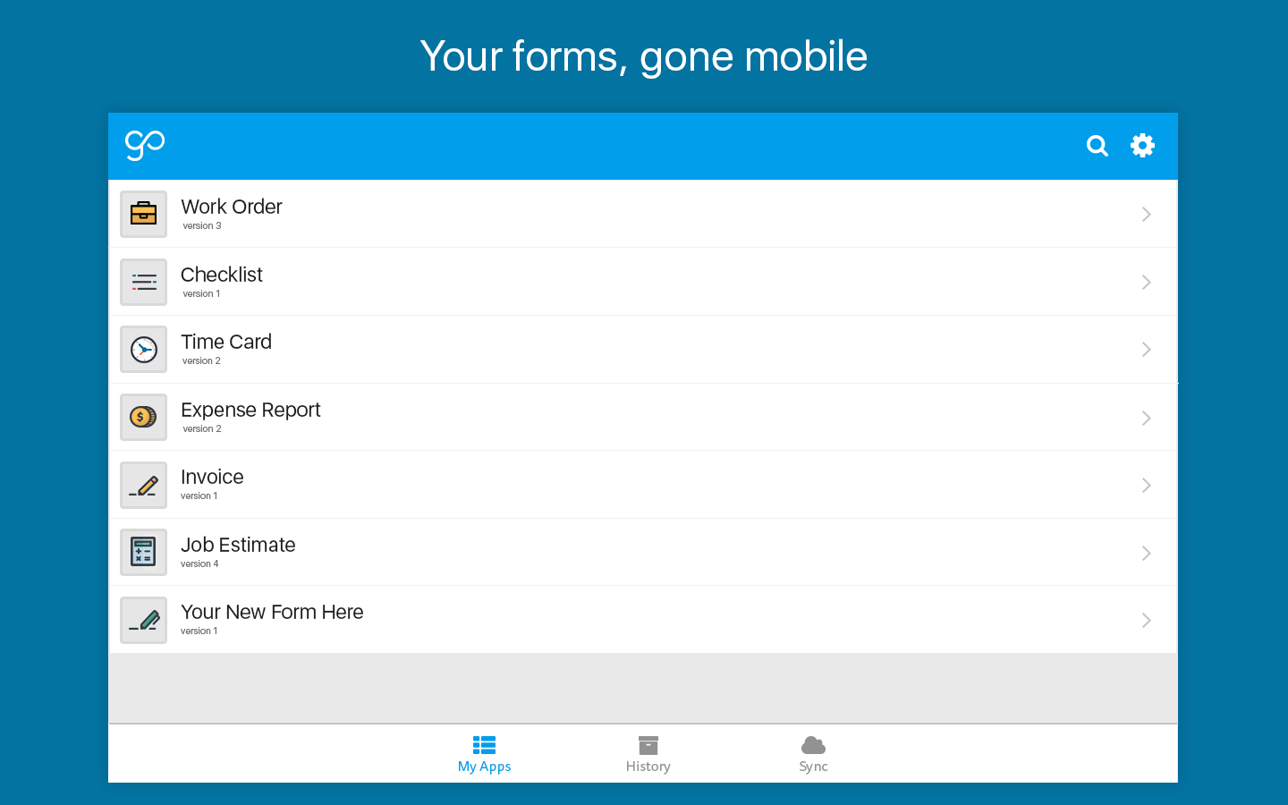 GoCanvas Business Apps & Forms- screenshot