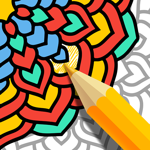 Mandala Coloring Book - Free Adult Coloring Pages Icon
