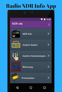 Radio NDR Info App - náhled