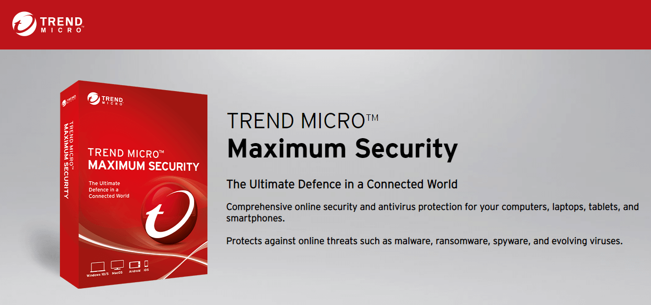Trend Micro Maximum Security Antivirus