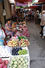 Photo: A typical market in the countryside. Everything is fresh...