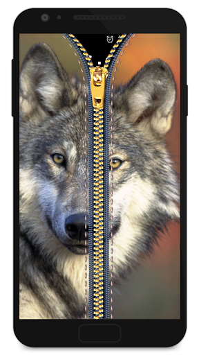 Zipper Lock Screen Wolf