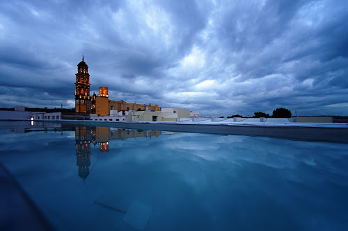 Church waiting for the storm by Cristobal Garciaferro Rubio - Landscapes Weather ( church, mexico, pwcfoulweather, puebla, storm )