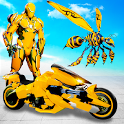 Flying Bee Transform Robot War: Robot Games