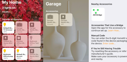 Add a HomeBridge from your AutomationManager for IoT server to apple's Homekit
