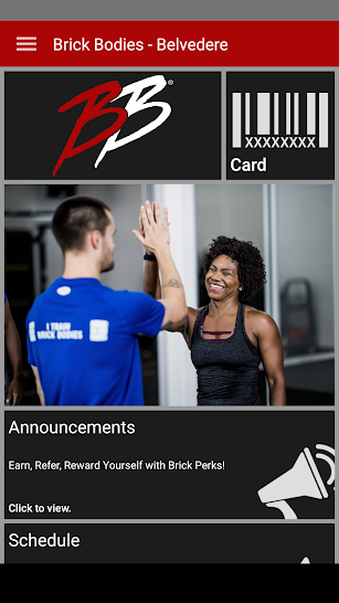 Brick Bodies Health Clubs screenshot for Android