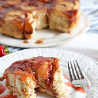 Strawberry Cinnamon Breakfast Buns.