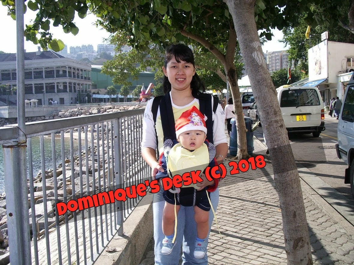 Me with Monkey Boy in HK when he was a baby