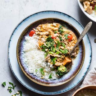 Crockpot Thai Peanut Butter Chicken Curry.