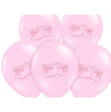 Ballonger - Små skor, rosa