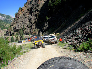 Photo: Kurt & Lynn waiting in line with us for one of the toughest drives of the entire trip, OURAY TODAY!!