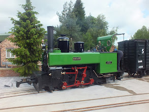 Photo: 004 On the same line and waiting to pull on to the multi-gauge turntable was this very attractive example of French NG loco design, Corpet 0-6-0PT no, 439, built in 1884. The indirect drive valve gear would make an interesting modelling challenge .