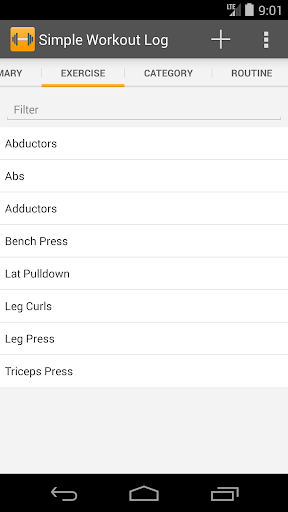 Simple Workout Log PRO Key 1.1 screenshots 2